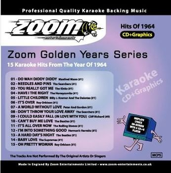 Zoom Karaoke Golden Years 1964 (CD+G)