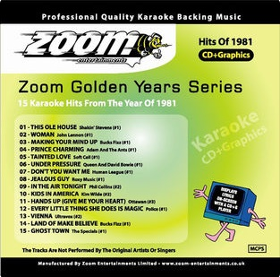 Zoom Karaoke Golden Years 1981 (CD+G)