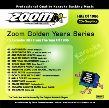 Zoom Karaoke Golden Years 1986 (CD+G)