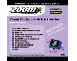 Zoom Karaoke Platinum Artists: Tom Jones (CD+G)