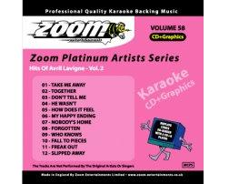 Zoom Karaoke Platinum Artists: Avril Lavigne Vol.2 (CD+G)