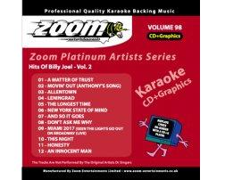 Zoom Karaoke Platinum Artists: Billy Joel Vol.2 (CD+G)
