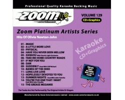 Zoom Karaoke Platinum Artists: Olivia Newton-John (CD+G)